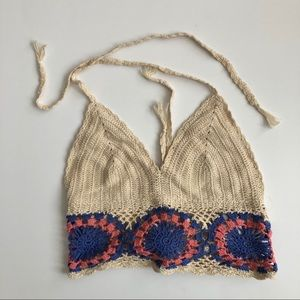Urban Outfitters crochet knit festival crop top